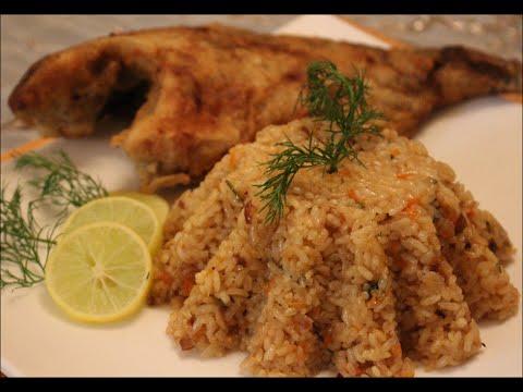 صورة طريقة عمل ارز السمك البني الذهبي
