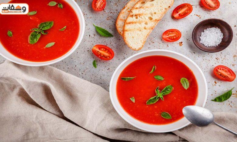 طريقة عمل شوربة الطماطم بـ 6 طرق من المطاعم