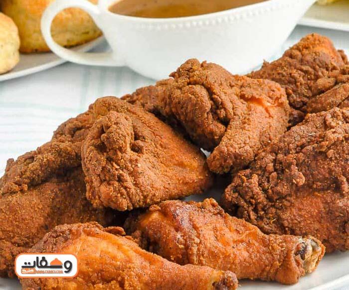طريقة عمل دجاج كنتاكى بالزبادي