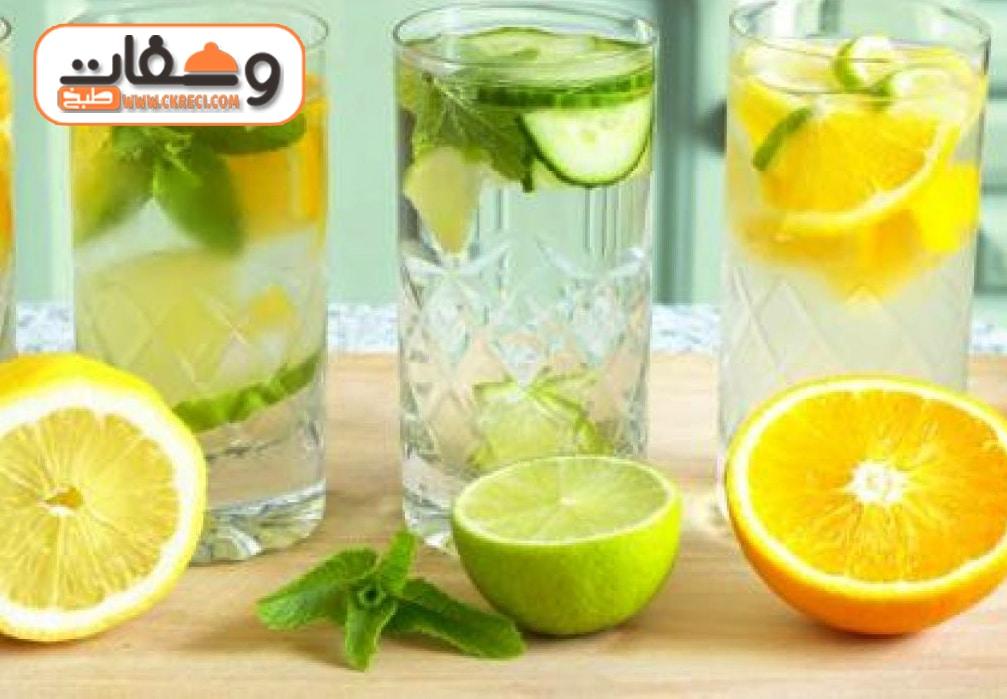 شاي اخضر بالجنزبيل والليمون مشروب لحرق الدهون